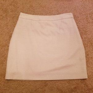 Ivory sparkle mini skirt sz 0